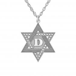 Textured Star of David Pendant 22mm