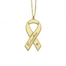 Cancer Awareness Ribbon 15x30mm