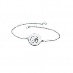 Singe Initial Round Shape Bracelet 22mm