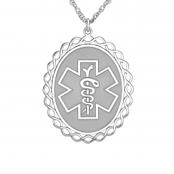 Medical and Health Alert Pendant 25x30mm