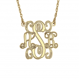 Traditional Monogram Personalized Necklace 18mm