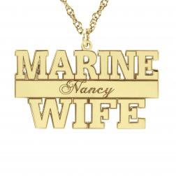 Marine Personalized Pendant 16x29mm