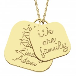 We Are Family Pendant 28x28mm
