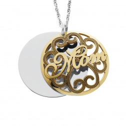 Domed Mothers Pendant 25mm