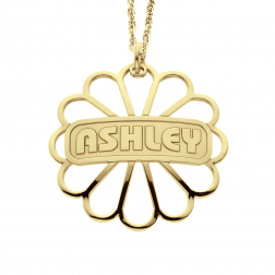 Personalized Flower Necklace 29mm