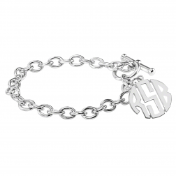 Block Monogram Toggle Bracelet 20mm