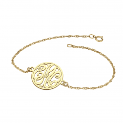 Classic Bordered Monogram Bracelet 20mm