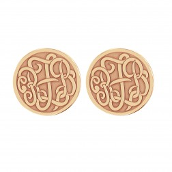 Classic Monogram Recessed Stud Earrings 20mm