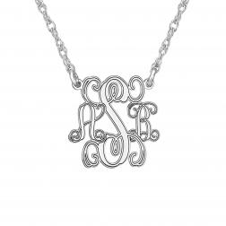 Traditional Monogram Personalized Necklace 15mm