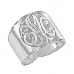 Recessed Classic Monogram Ring 18mm