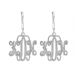 Traditional Monogram Leverback Earrings 20mm