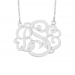 Classic wide Monogram Necklace 30x40mm
