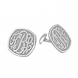 Classic Cushion Monogram Cufflinks 18mm