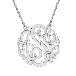 Rose Monogram Necklace 30mm