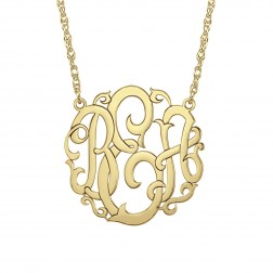 Rose Monogram Necklace 40mm