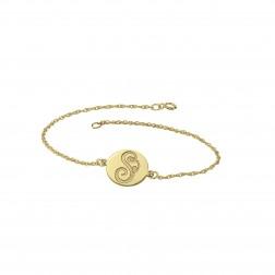 Single Initial Bracelet