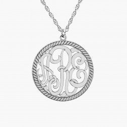 Circular Rope Monogram Pendant 25mm