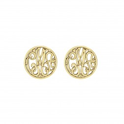 Classic Monogram Stud Earrings 10mm