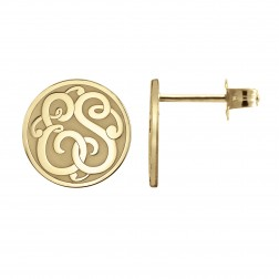 Classic Monogram Recessed Stud Earrings 10mm