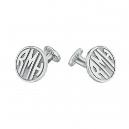 Round Original Monogram Cufflinks 18mm