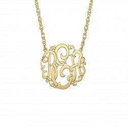 Rose Monogram Necklace 15mm