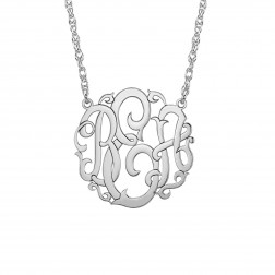 Rose Monogram Necklace 25mm