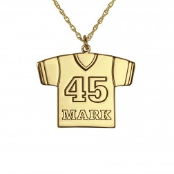 Personalized Football Jersey Pendant 23x17mm