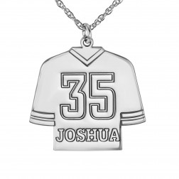 Personalized Hockey Jersey Pendant 23x17mm