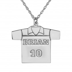 Personalized Soccer Jersey Pendant 23x17mm