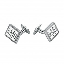 Rectangle Original Monogram Rope Cufflinks 18x13mm