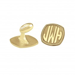 Cushion Block Monogram Cufflinks (18mm)