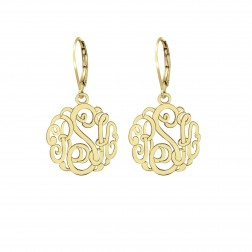 Small Classic Monogram Leverback Earrings 20mm