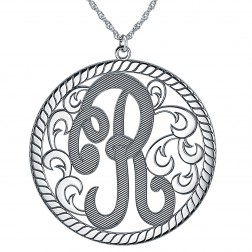 Single Initial Monogram Necklace 40mm