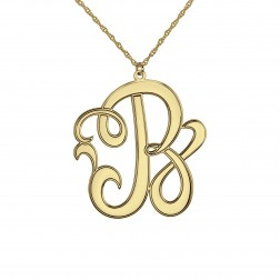 Cutout Scripted Initial Pendant 15mm