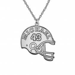 Football Helmet Name Pendant 24mm