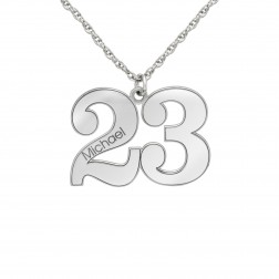 Small Sports Fan Numbers Pendant (17mm)