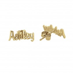 Mini Script Name Earrings