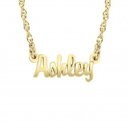 Mini Script One Name Necklace