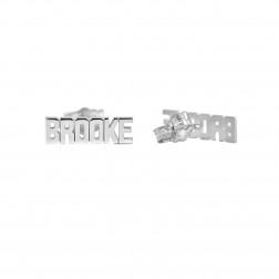 Mini Fashion Name Earrings Approx. 5.6x12.2mm