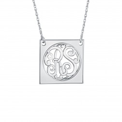 Classic Square Monogram Necklace 25mm