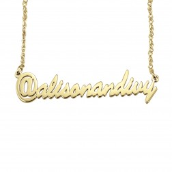 Personalized Social Media Name Necklace