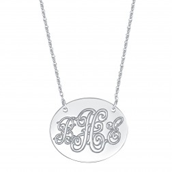 Oblong Monogram Necklace 25x30mm