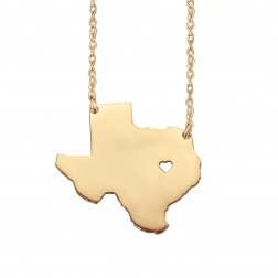 Home Is Where the Heart Is State Necklace 26mm