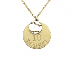 Personalized Baseball Double Pendant 20mm
