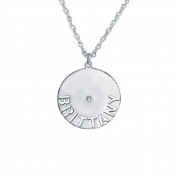 Disc Shape Name Pendant 20mm