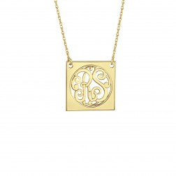 Classic Square Monogram Necklace 15mm