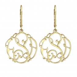 Ivy Monogram Leverback Earrings 20mm