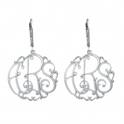 Ivy Monogram Leverback Earrings 25mm