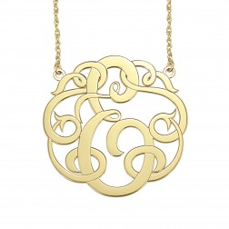 Single Initial Monogram Necklace 40mm 88246