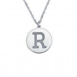 Single Uppercase Initial Round Pendant 16mm